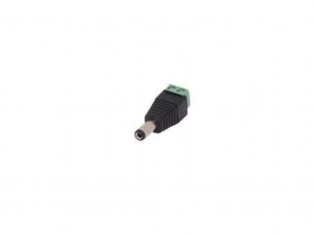 DC Stecker 5,5 / 2,1mm mit Klemmanschluss
