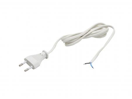Zuleitung 230Vac 2-adrig EURO Stecker für LED-Netzteile weiß 1,5m 1,5m