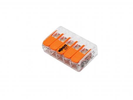 WAGO Verbindungsklemme 5-polig für fünf Leiter extra flach