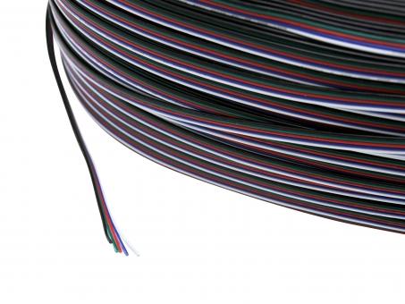 1m 5x 0,5mm² LED RGBW Leitung, 5-adrig