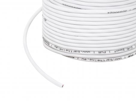 1m 2x 0,34mm² 2-poliges Kabel weiß PUR Outdoor