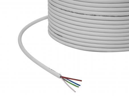 1m 4x 0,5mm² 4-pol. RGB Kabel grau PVC