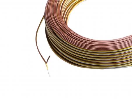 1m 3x 0,25mm² CCT Leitung  3-adrig für zweifarbige Stripes