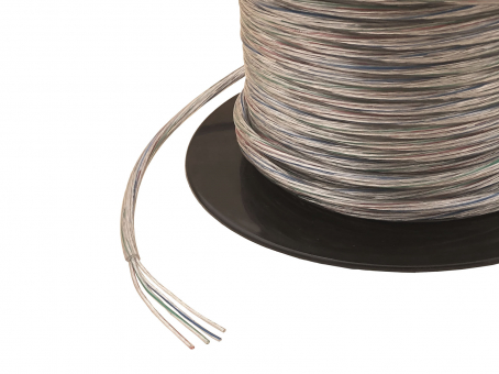 1m 4x 0,35mm² 4-pol. RGB Kabel transparent Outdoor