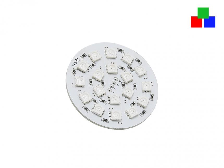LED Platine RGB gem. Plus für Deckeneinbau 24Vdc unvergossen