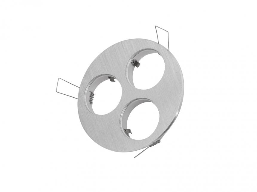 3-fach Einbaurahmen rund für Cursa 2.5W -Aluminium- QR111
