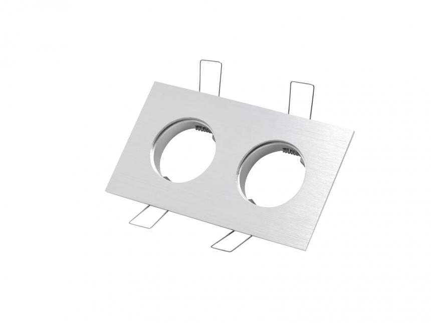 2-fach Einbaurahmen eckig für Cursa 2.5W -Aluminium-