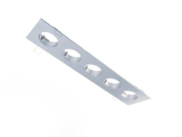5-fach Einbaurahmen eckig für Cursa 2.5W -Aluminium-