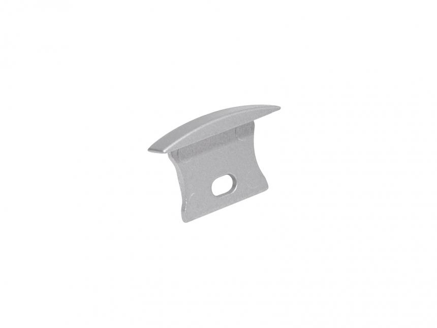 Endkappe LED Alu T-Profil Slim 15mm mit Kabeldurchgang Alu