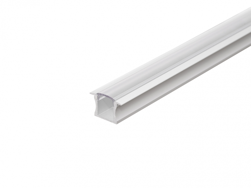 LED Alu T-Profil Slim 15mm silber mit Abdeck 2,0m transparent