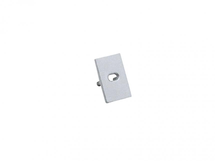 LED Endkappe U-Aluminiumprofil Slim XS mit Kabeldurchgang Alu