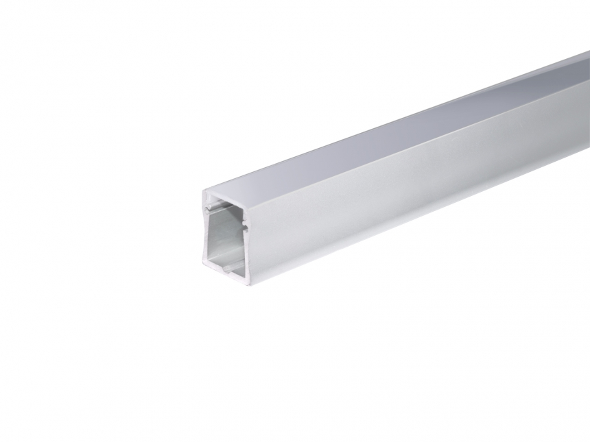 LED Alu U-Profil Slim XL28mm silber mit Abdeck 3,0m transparent