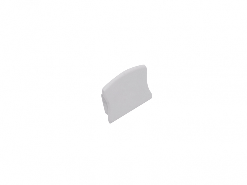 Endkappe LED Alu U-ProfilSlim XL15mm ohne Kabeldurchg Kunststoff