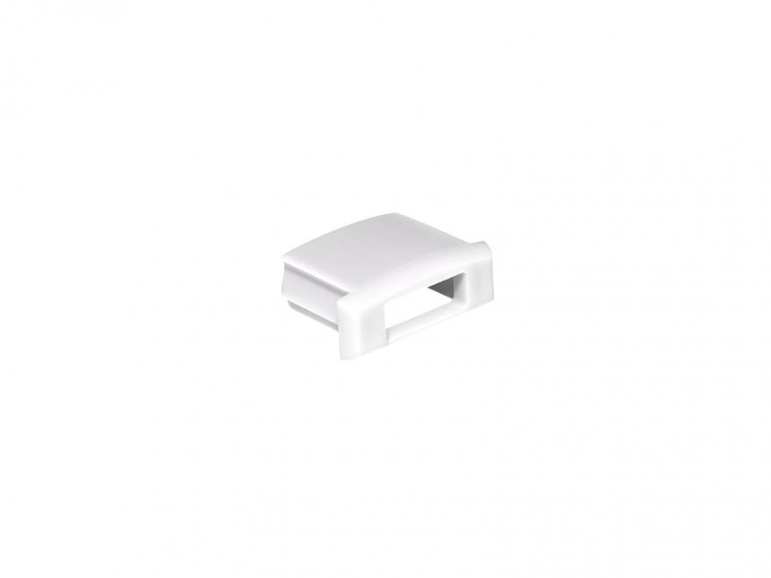 Endkappe für LED Alu-Profil AL-PU1 weiß mit Kabeldurchgang