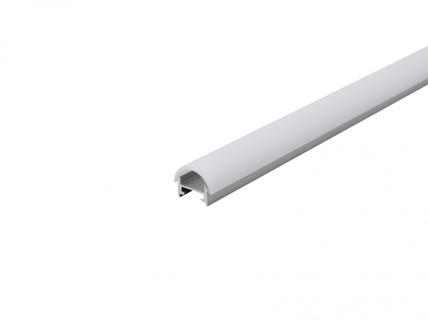 Alu Profil XXLine Metro silber mit Abdeck rund 5,0m opalweiß