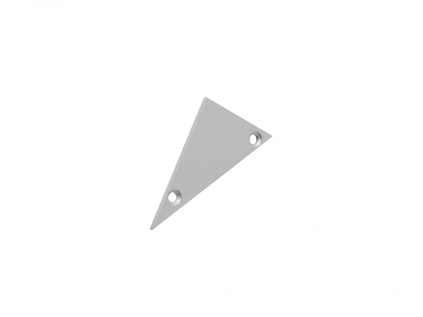 Endkappe links Alu-Voutenprofil XXLine ohne Kabeldurchgang grau