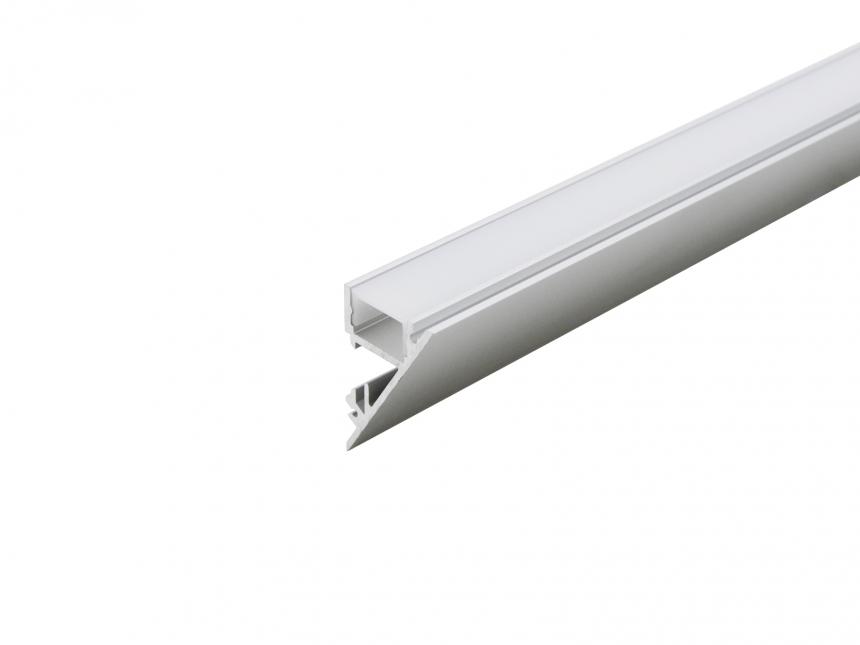 Alu Voutenprofil XXLine mit Abdeckung 2,0m opalweiß weiß RAL9003