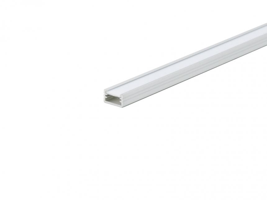 LED Alu U-Profil AL-PU2 7mm mit Abdeckung 1,0m silber