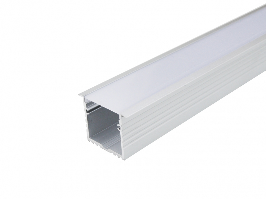 LED Alu T-Profil 35mm silber mit Abdeckung 1,0m opalweiß