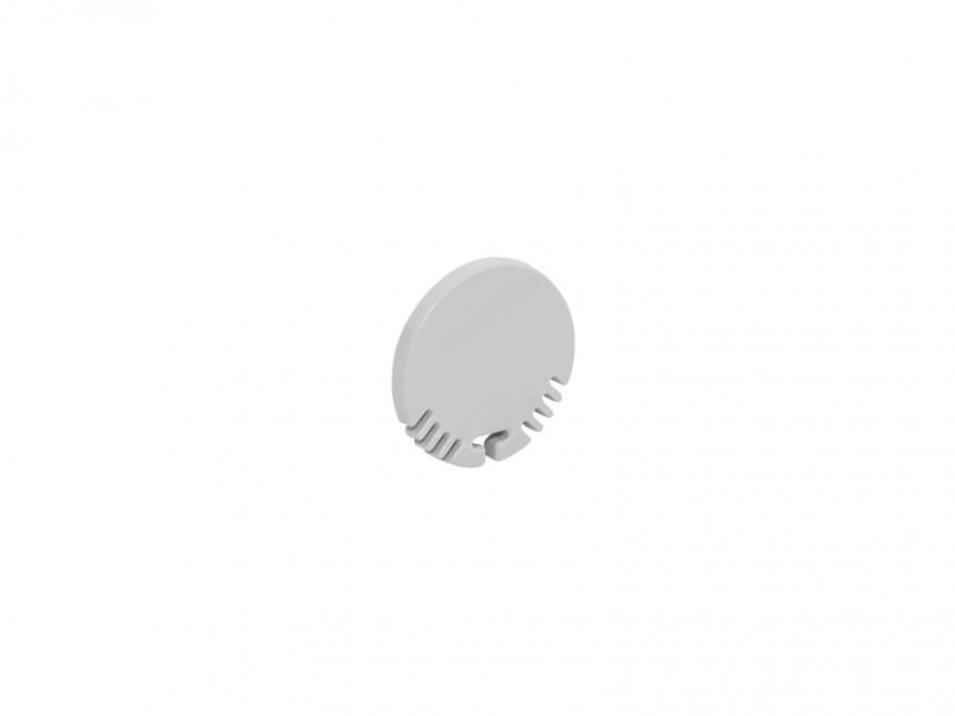 Endkappe LED Alu Rund-Profil ohne Kabeldurchgang Kunststoff