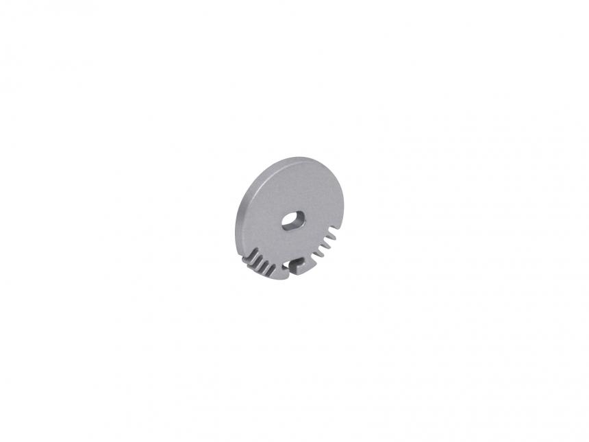 Endkappe LED Alu Rund-Profil mit Kabeldurchgang Aluminium