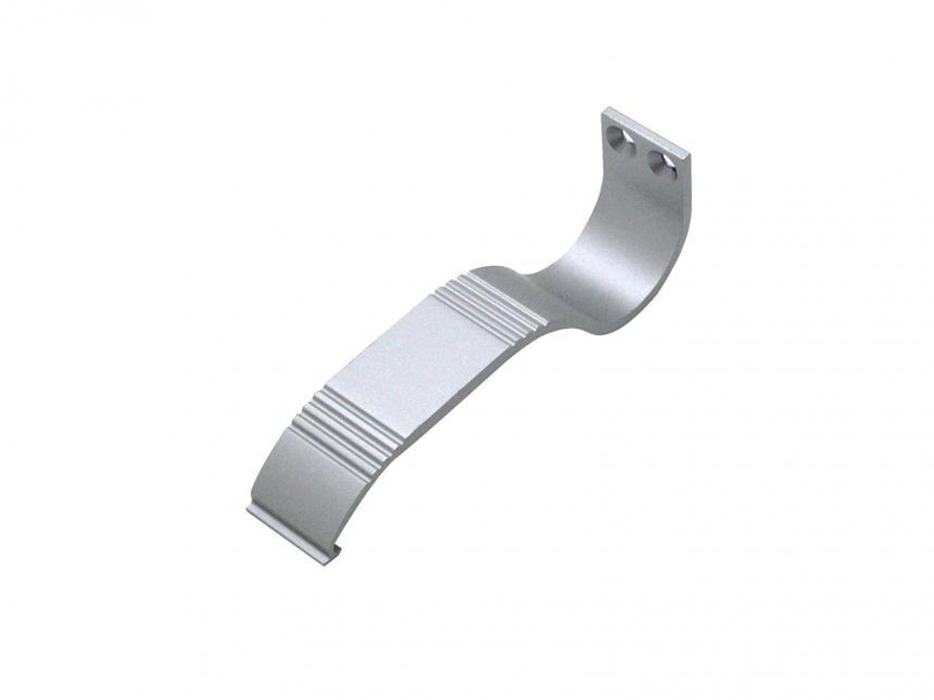 Wandarm S für LED Alu Rund-Profil Aluminium