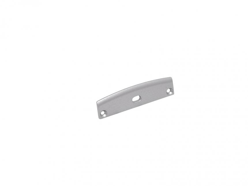 Endkappe LED Alu U-Profil Triple mit Kabeldurchgang Alu