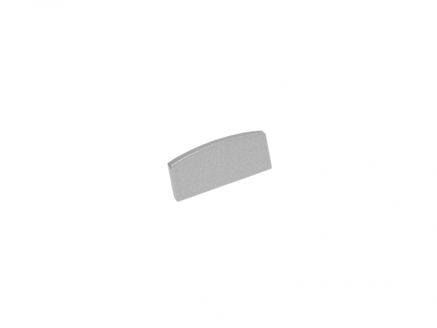 Endkappe LED Alu U-Profil Slim 7mm ohne Kabeldurchgang Alu