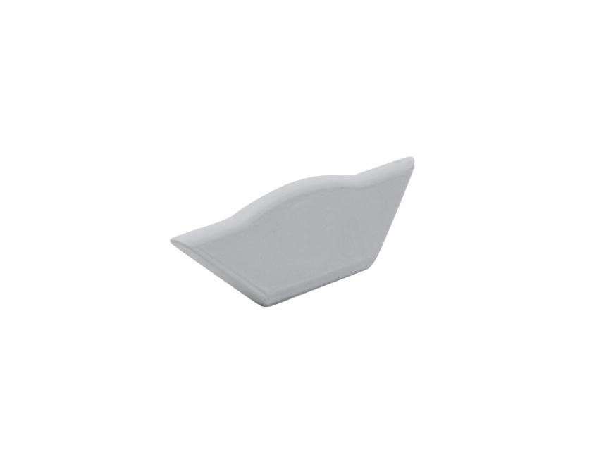 Endkappe Alu Profil abgeflachter Ecke ohne Kabeldurchg grau