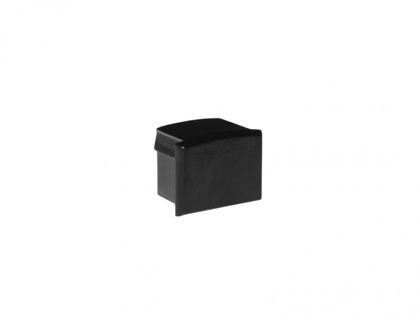 Endkappe für Alu Kühlprofil AL-PU6 Kunststoff sw ohne Kabeldurchg