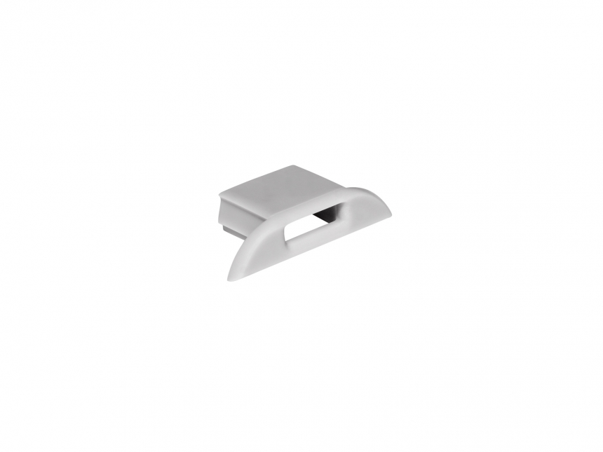 Endkappe für LED Alu-Profil AL-PU8 mit Kabeldurchgang