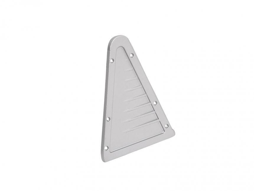 Endkappe LED Alu Triangelprofil re ohne Kabeldurchgang Alu