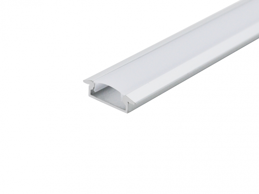 LED Alu T-Profil Slim XL8mm silber mit Abdeck 1,0m transparent