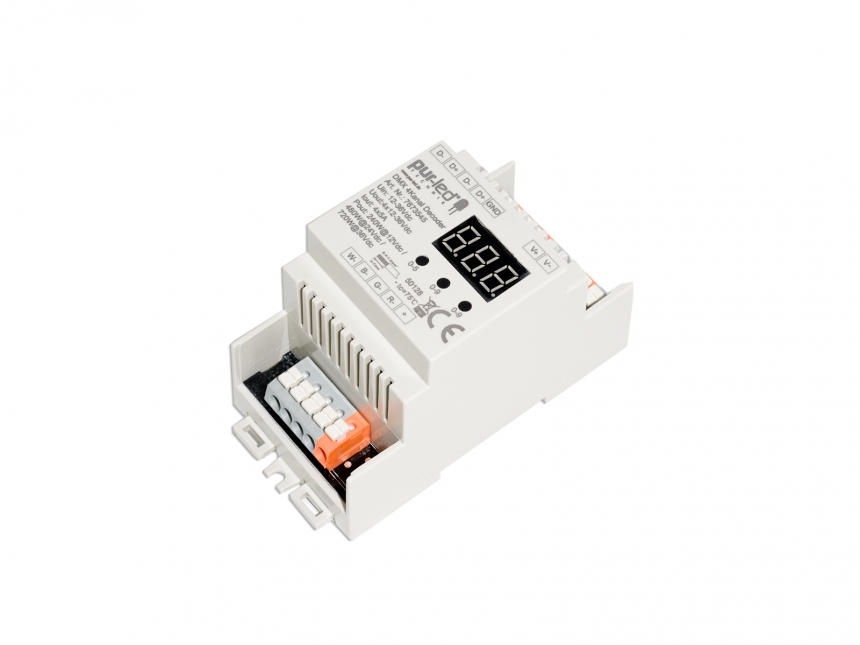 LED Dimmer RGBW DMX 12-36Vdc 4x5A Hutschiene