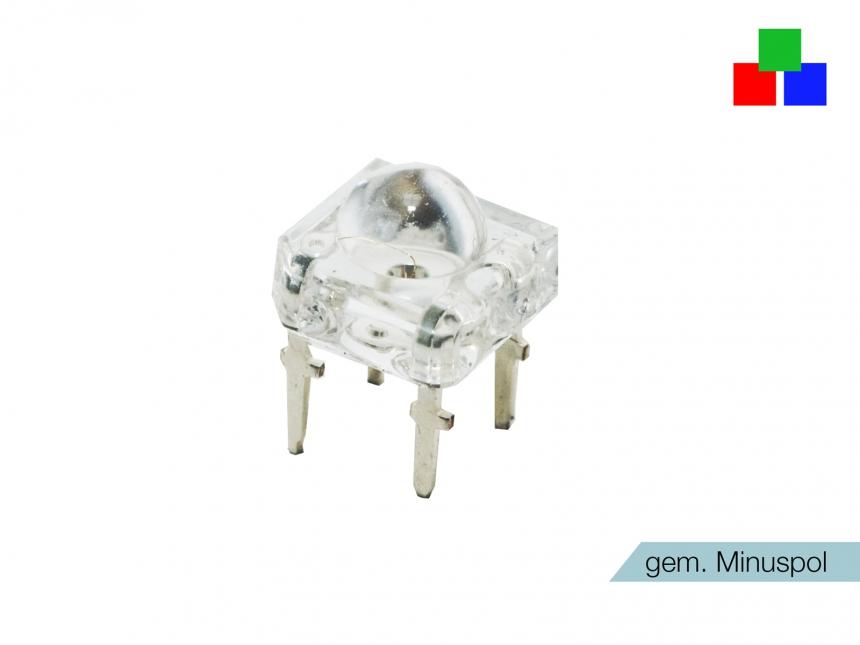 RGB 4-PIN Superflux-LED Rainbow farbsteuerbar gem. MINUS