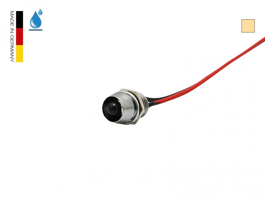 LED Schraube warmweiß 5mm Chromgehäuse ~20° IP67