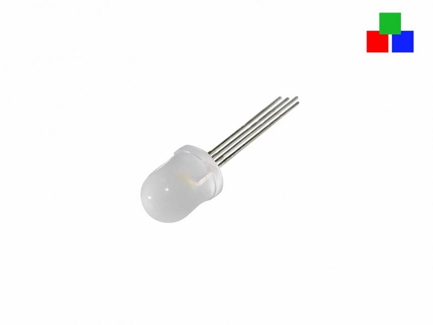 LED 10mm RGB diffus 4-Pin gemeinsamer Pluspol