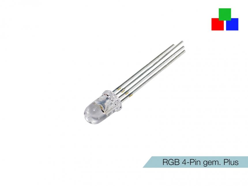 LED 5mm RGB-Rainbow klar 4-Pin gemeinsamer Pluspol