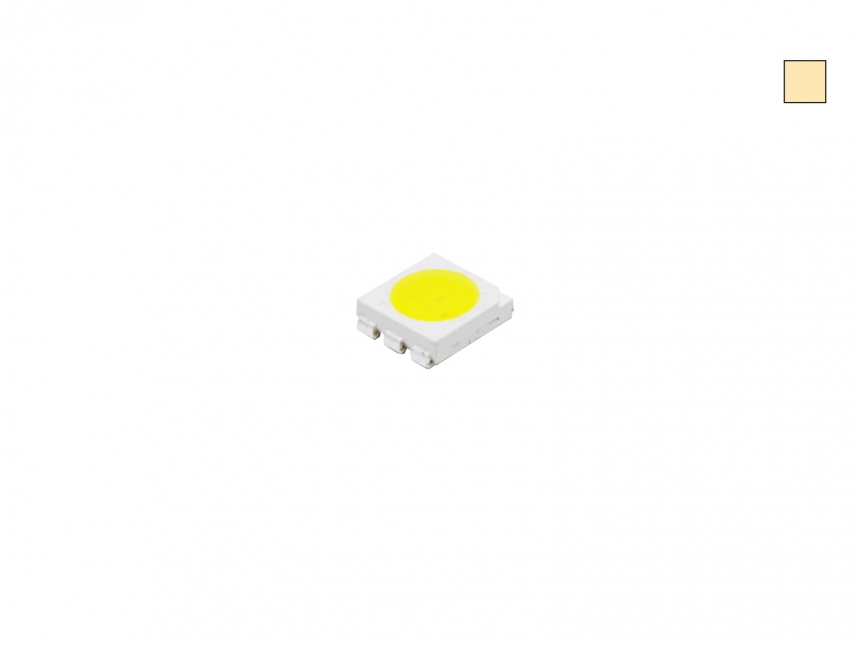 SMD PLCC6 3-CHIP 5060 LED warmweiß ca. 13 Lumen