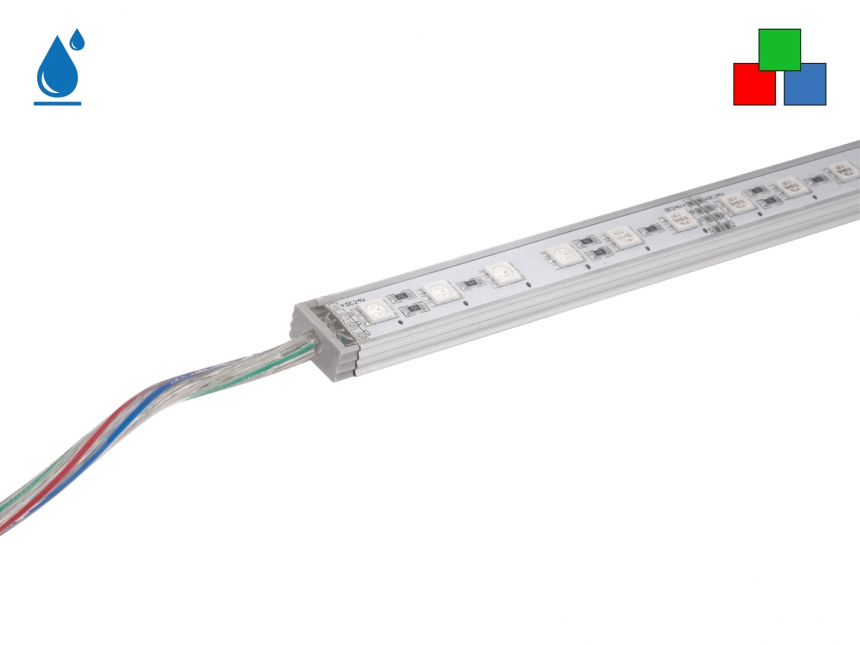 0,35m LED Leiste RGB 24Vdc 5,6W 116lm 24 LEDs IP65