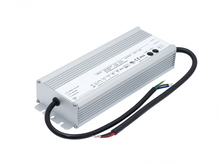 LED Netzteil 12Vdc +/-10% 264W 22A In-/Outdoor IP65