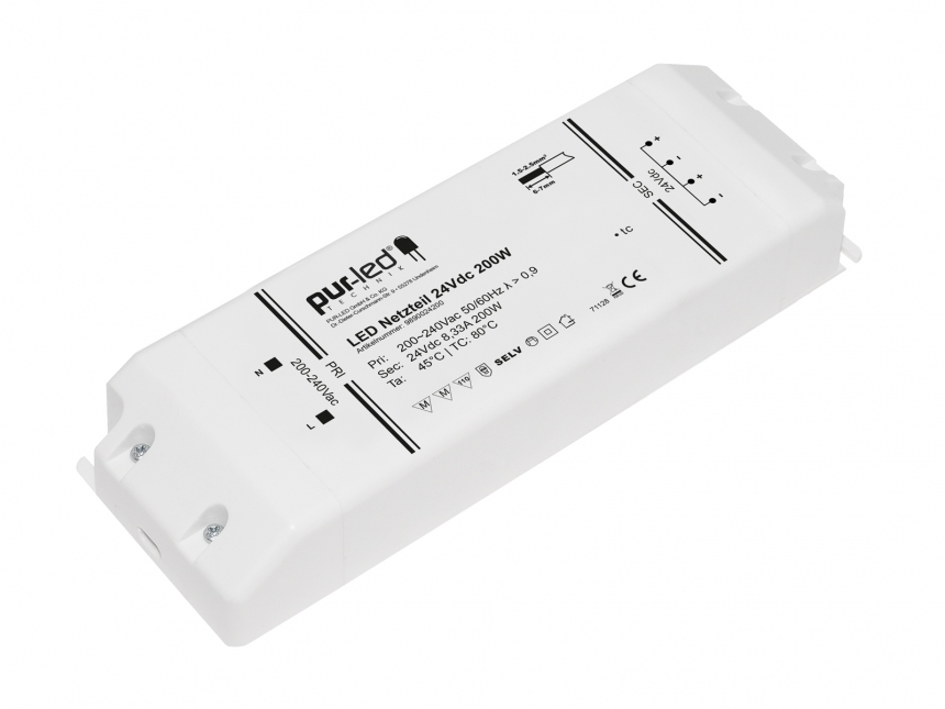 LED Netzteil 24Vdc 200W 8,33A Indoor