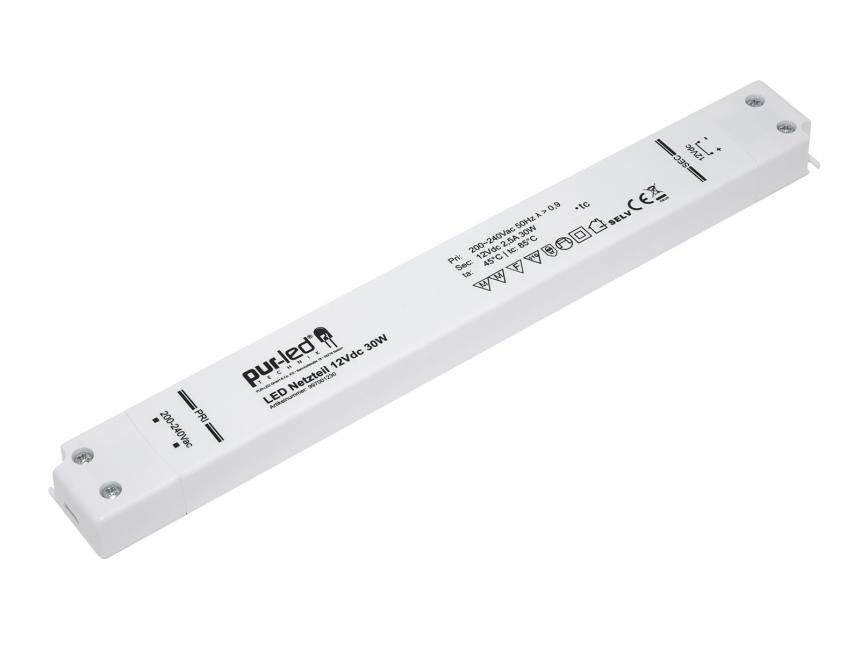 LED Netzteil 12Vdc 30W 2,5A Indoor slim