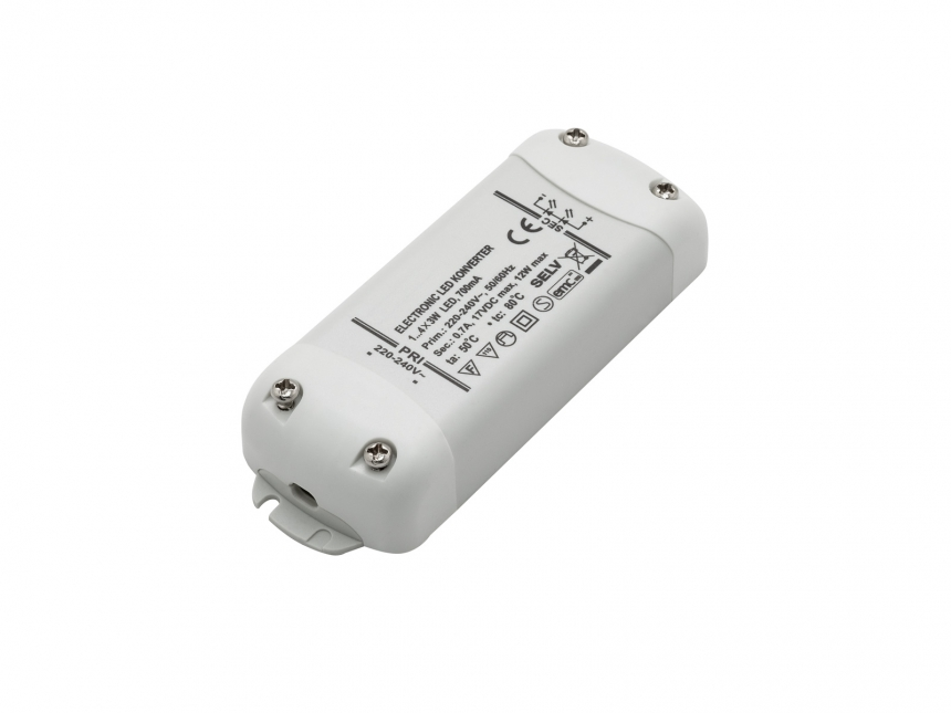 LED-Konverter 240Vac 700mA 12W max 17Vdc F-Zeichen SELV