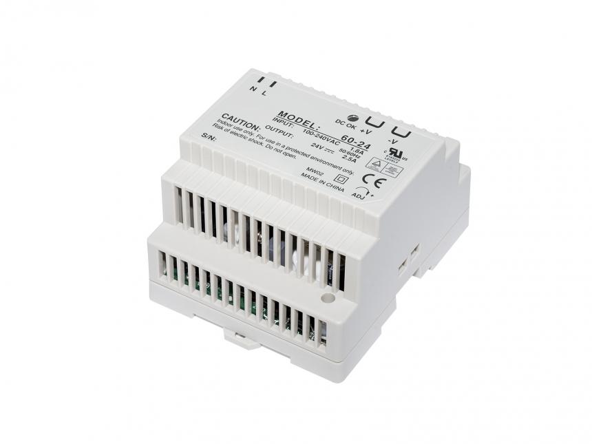 Sicherungskasten Netzteil 24Vdc +/-10% 60W 2,5A