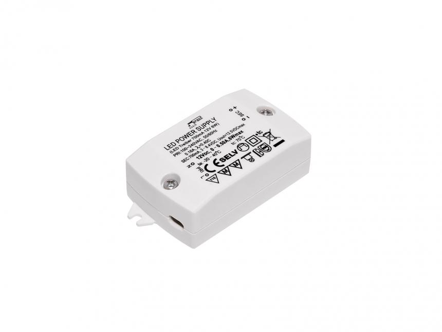 LED-Konverter 240Vac 700mA 6W max 8,5Vdc F-Zeichen SELV