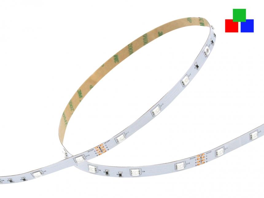 LED Stripe RGB 24Vdc 7W/m 200lm/m 30LEDs/m 1,0m