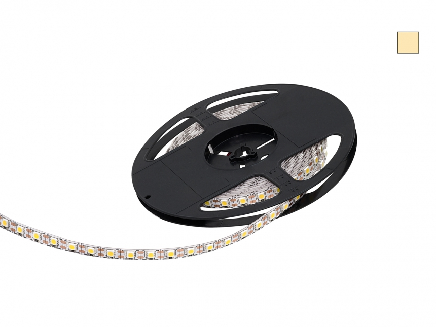 LED Stripe warmweiß 12Vdc 15W/m 430lm/m 72LEDs/m Single Cut 5,0m