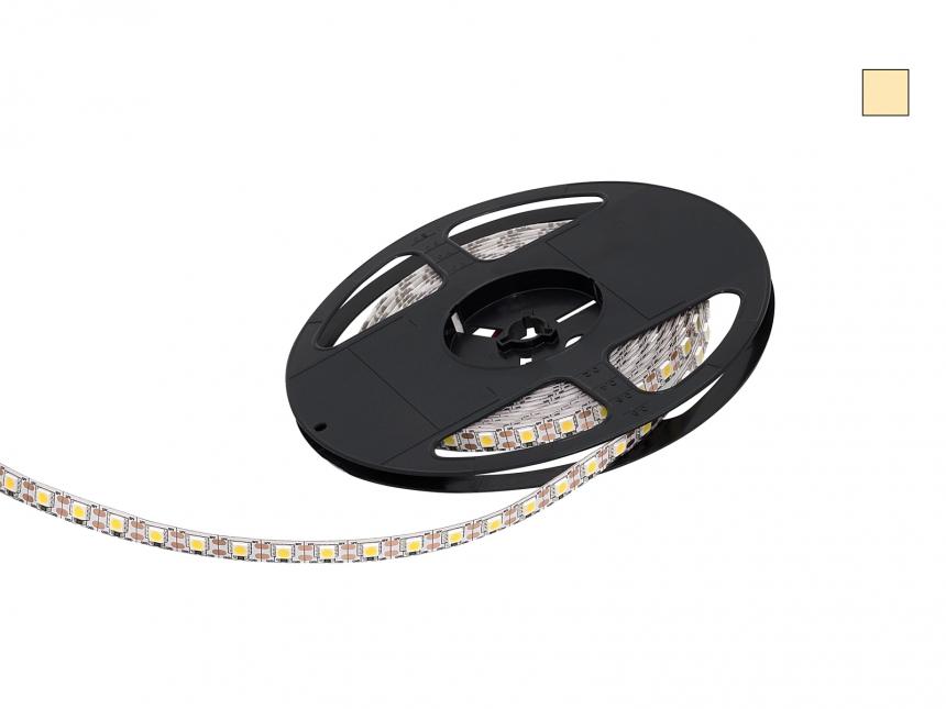 5m LED Stripe warmweiß 12Vdc 15W/m 430lm/m 72LEDs/m Single Cut