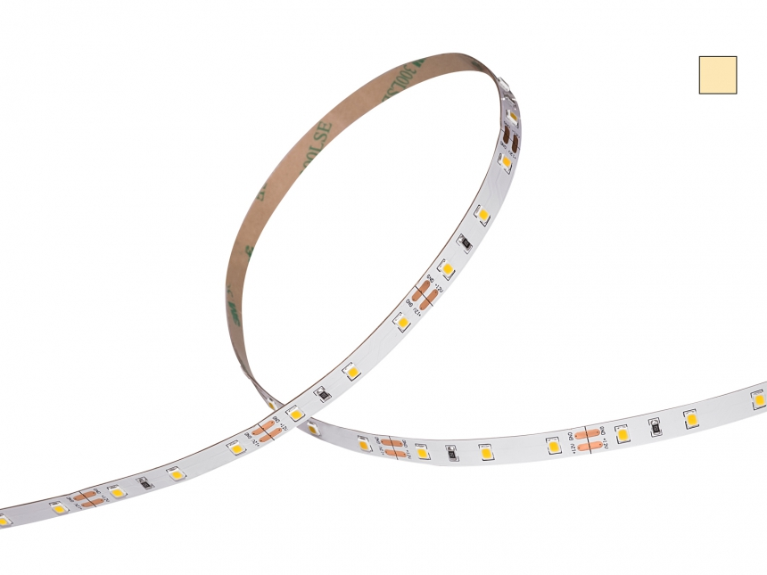LED Stripe warmweiß 12Vdc 12W/m 1100lm/m 60LEDs/m 1CHIP 5,0m